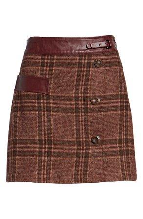 MOON RIVER Plaid Miniskirt | Nordstrom