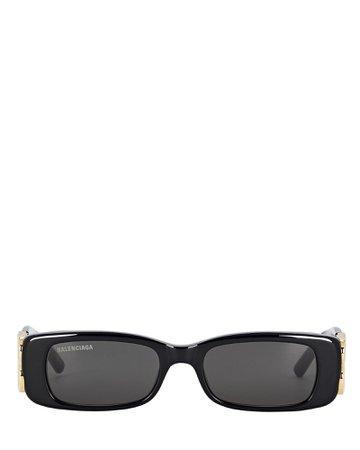 Balenciaga Dynasty Logo Thin Sunglasses | INTERMIX®