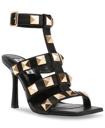 Black  Steve Madden Women's Capri Studded Stiletto Sandals & Reviews - Sandals - Shoes - Macy's