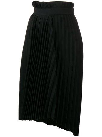 BALENCIAGA Fancy Pleated Asymmetric Skirt - Farfetch