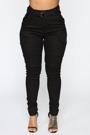 Kadet Kelly Cargo Skinny Pants - Black