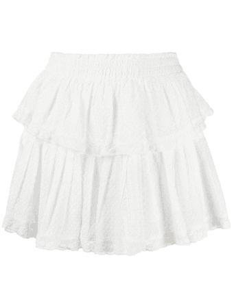 Loveshackfancy Ruffled Cotton Mini Skirt In White | ModeSens