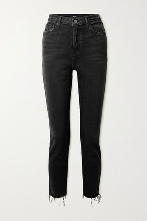 Karolina Frayed High-rise Skinny Jeans - Black