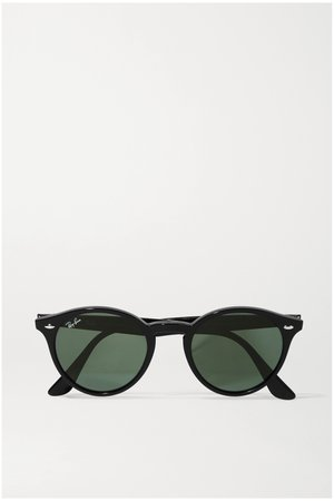 Black Round-frame acetate sunglasses | Ray-Ban | NET-A-PORTER