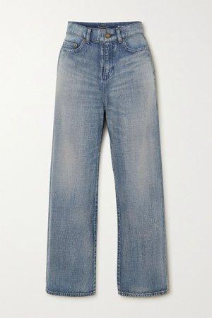 Blue High-rise straight-leg jeans | SAINT LAURENT | NET-A-PORTER