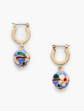 Cloisonné Bead Earrings | Talbots