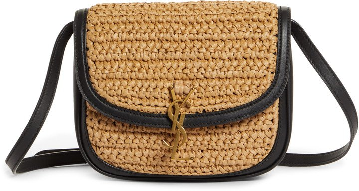 Medium Kaia Raffia Crossbody Bag