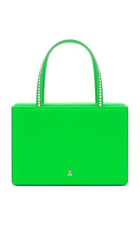 Amini Gilda Crystal-Trimmed Leather Top Handle Bag By Amina Muaddi | Moda Operandi