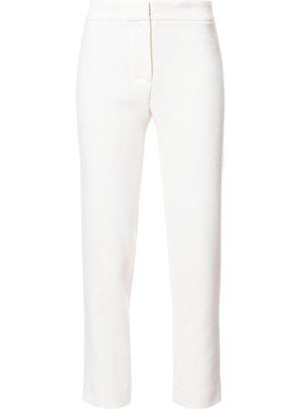 Carolina Herrera, White Slim-fit Cropped Tailored Pants