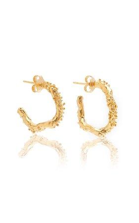 The Lunar Rocks 24k Gold-Plated Earrings By Alighieri   Moda Operandi