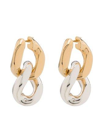 Bottega Veneta two-tone Drop Earrings - Farfetch
