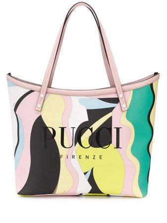 Emilio Pucci Vallauris Print Twist Tote Bag | Farfetch.com
