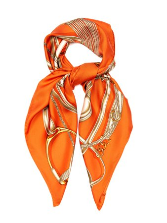 Orange Gucci Silk Scarf