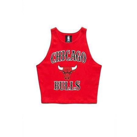 Forever 21 Women's Chicago Bulls Crop Top