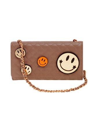 Brown Emoji Quilted Clutch Bag – Rich Fashion