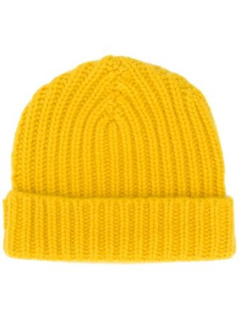 Shop yellow Warm-Me Alex cashmere beanie hat with Express Delivery - Farfetch