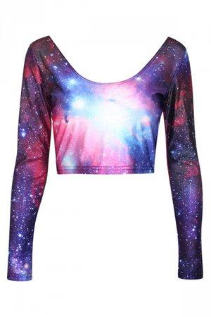 galaxy crop top