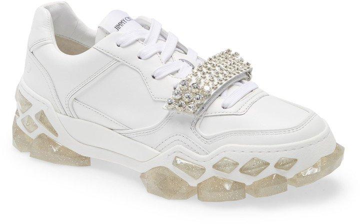 Crystal Embellished Low Top Sneaker