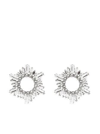 Amina Muaddi Begum Crystal Earrings - Farfetch