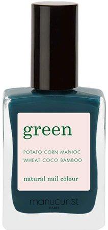 Green Nail Lacquer - Dark Clover