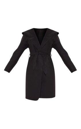 Black Waterfall Hooded Coat | Coats & Jackets | PrettyLittleThing