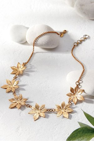 Galia Necklace - Etched Starburst Necklace | Soft Surroundings