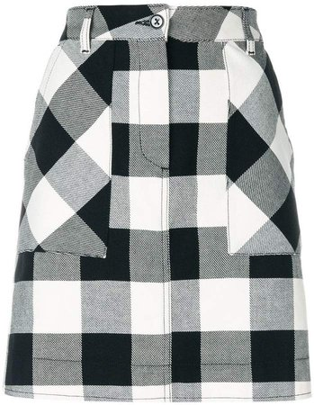 chequer plaid skirt