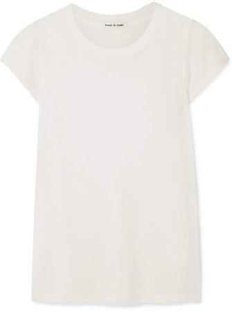 Frances de Lourdes - Garçon Cashmere And Silk-blend T-shirt - Ivory