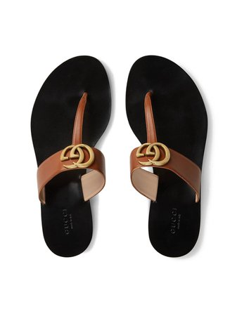 Gucci Double G Thong Sandals - Farfetch