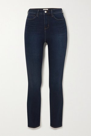 Marguerite Cropped High-rise Skinny Jeans - Blue