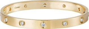 CRB6040517 - LOVE bracelet, 10 diamonds - Yellow gold, diamonds - Cartier