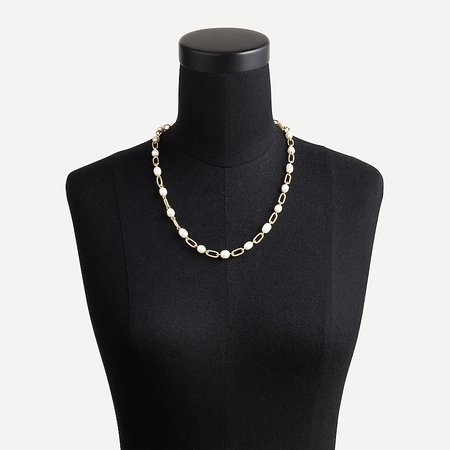 J.Crew: Pearl Chain Necklace For Women