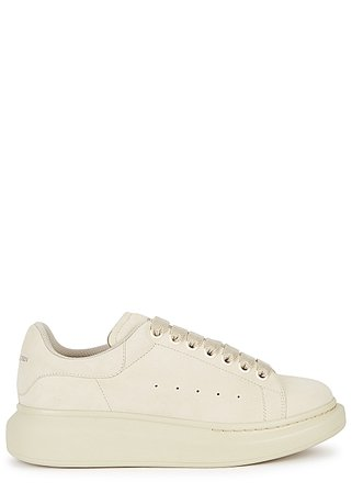 Alexander McQueen Larry cream suede sneakers - Harvey Nichols
