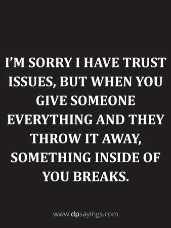 trust issues quote