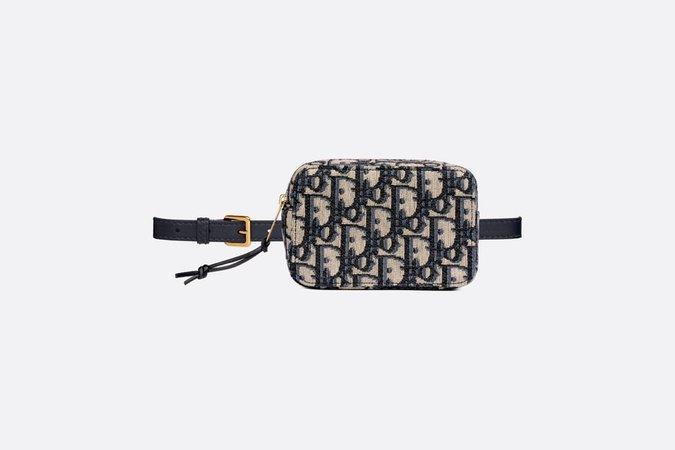 Blue Dior Oblique Canvas Belt Pouch - products | DIOR