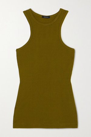 GOLDSIGN | + NET SUSTAIN ribbed-knit tank | NET-A-PORTER.COM