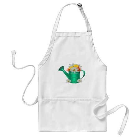 Floral Watering Can Daisies Adult Apron | Zazzle.com