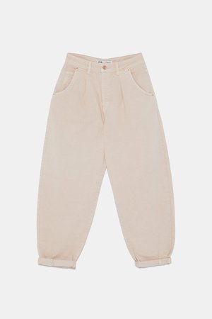 SLOUCHY Z1975 JEANS WITH DARTS - NEW IN-WOMAN | ZARA United States ivory