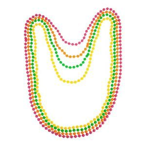 Neon Beads Necklace 80s Costume Accessory