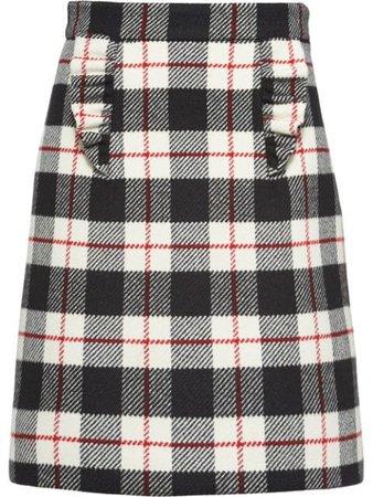 Miu Miu Check A-line Skirt - Farfetch