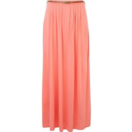 coral maxi skirt - Google Search