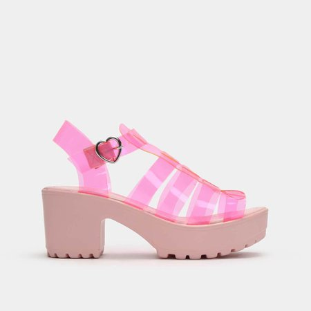 SII Strappy Pink Jelly Cleated Sandals | Koi