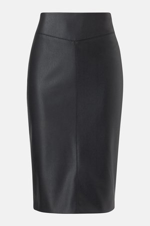 Faux Leather Pencil Skirt | Karen Millen