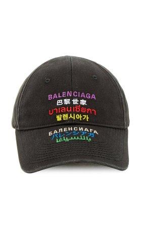 Embroidered Multilingual Baseball Cap By Balenciaga | Moda Operandi