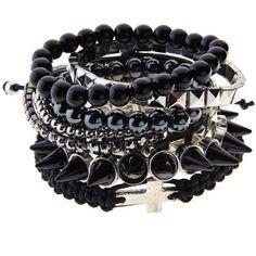 black bracelets spikes