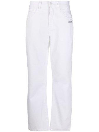 Off-White Jean Droit à Logo Imprimé - Farfetch