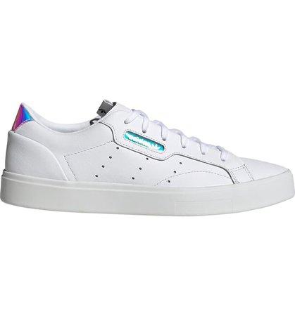 adidas Sleek Leather Sneaker (Women) | Nordstrom