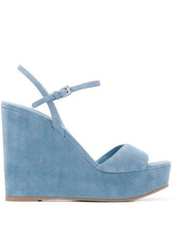 Prada platform wedge sandals - FARFETCH