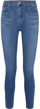 Leenah High-rise Skinny Jeans - Mid denim