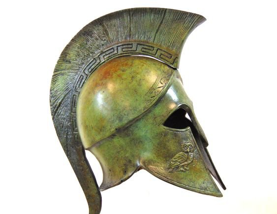 aesthetic Athena helmet png green filler